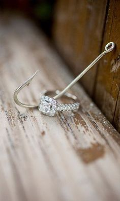 ring + fishhook - North Palm Beach Engagement session from Captured Photography by Jenny Halo Engagement Rings, Halo Rings, Diamond Rings, Halo Diamond, Beautiful Engagement Rings, Wedding Engagement, Diamond Wedding Rings, Ring Stores, Brilliant Diamond