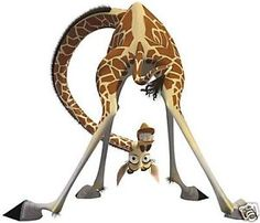disney giraffe charaters | MADAGASCAR MELMAN GIRAFFE IRON TRANSFER | eBay