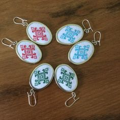 The Double Calendar Spread Lace Earrings, Custom Earrings, Easy Crafts To Make, Cross Stitch For Kids, Old Art, Lace Design, Vintage Lace, Cross Stitch Embroidery, Hand Stitching