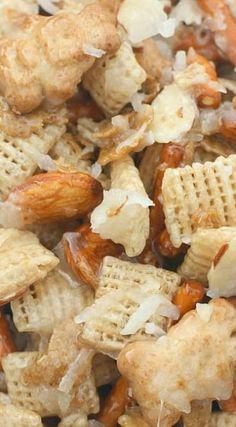 Almond Coconut Chex Mix #christmasrecipes