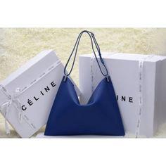 SAC CELINE 2014 0173 BLEU 1.Marque  : celine 2.Style  : sac celine 2014 3.couleurs : bleu 4.Matériel : La première couche de cuir 5.Taille: W40 x D32 cm