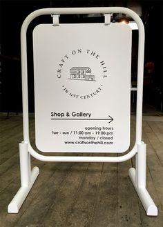 [010] 가회동 체어스 온 더 힐-입간판 : 네이버 블로그 Wayfinding Signage, Signage Design, Logo Design, Sidewalk Signs, Cafe Sign, Sign Board Design, Boutique Interior, Outdoor Signs, Business Signs