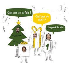 Souhaitez une année festive avec cette carte de voeux Année costumée !! Sapin, cadeaux, ou calendrier éphéméride, tout le monde a célébrer la nouvelle année !! Les emplacements photo feront le bonheur et la joie de tous vos proches avec Popcarte !