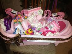 Bath Time | DIY Baby Shower Gift Basket Ideas for Girls