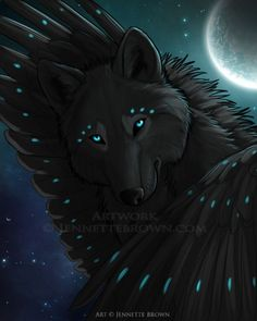 Blue Cosmos - Jennette Brown Digital Fantasy - Wolves and ...