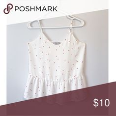 Dalia top size XS Never been worn Double layered not see through Adjustable straps Size XS Dalia Tops Blouses