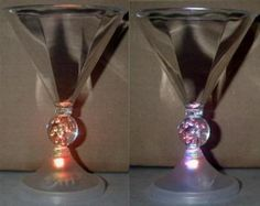 Have a fun Halloween party with light up color changing martini glasses.