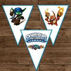 Personalized SKYLANDERS Party Banner  by alilfrostingshop on Etsy, $10.00