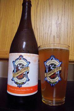 'Til Sunset Session IPA - Light, Golden, Hoppy goodness from Lickinghole Creek Craft Brewery, Goochland, VA