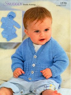 child / childs sweater cardigan hooded jacket knitting sample PDF DK cardigan with hood hoodie DK mild worsted On the spot Obtain Free Baby Patterns, Baby Boy Knitting Patterns, Baby Sweater Patterns, Knit Patterns, Free Knitting, Hood Pattern, Jacket Pattern, Knitted Baby Cardigan, Sweater Cardigan