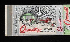 1940s Matchbook Quonset Hut North Iowa Steel Buildings Phone 1274 Mason City IA