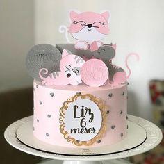 Kitten Cake, Kitten Party, Cat Party, Birthday Cake For Cat, Happy Birthday Girls, Cool Birthday Cakes, Dummy Cake, Ballerina Cakes, Pastel Party