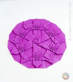 Origami HydRingEa Tessellation Guide + Link to CP & pdf.