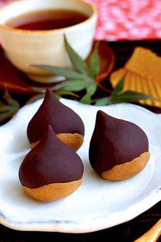 Autumn Wagashi with Chestnuts - Wagashi Maniac
