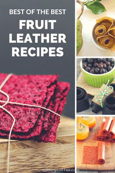 Here's a tantalizing collection of the best fruit leather recipes for putting up the harvest! From simple classics to adventuresome flavor combinations! Clean Dinner Recipes, Raw Dessert Recipes, Raw Food Recipes, New Recipes, Snack Recipes, Desserts, Drink Recipes, Amazing Recipes, Easy Recipes
