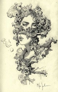 Art inspiration and art ideas Miles Johnston # Milesjohnston Kunstinspiration und Kunstideen Miles Johnston # Milesjohnston Fantasy Kunst, Fantasy Art, Drawing Sketches, Art Drawings, Life Drawing, Miles Johnston, Surrealism Drawing, Kunst Tattoos, Drawing Tattoos