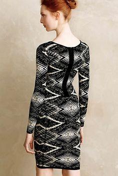 NWOT $148 Anthropologie Tracy Reese black white Moire Patterned Sheath Dress L #PlentybyTracyReese #SheathDress #versatile