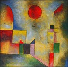 """""""El globo rojo"""" (1922) de Paul Klee. Abstracción  y color."""