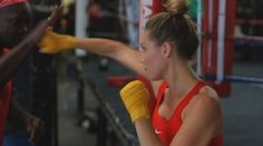 Fitness model Lauren Berlingeri's bun is a knockout in the boxing ring. Higher Dose, Boxing, Fitness Fashion, Crossfit, What To Wear, Hot Girls, Gym, Casual, Model