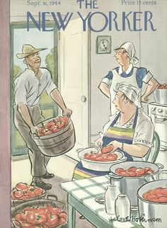 The New Yorker - Saturday, September 16, 1944 - Issue # 1022 - Vol. 20 - N° 31 - Cover by : Helen E. Hokinson