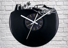 Add some retro, with a modern twist, to your living space with these cool and quirky clocks made from vinyl records.