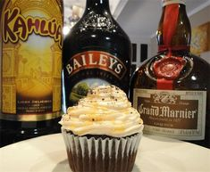 Kahlua Cupcake with Bailey's Frosting