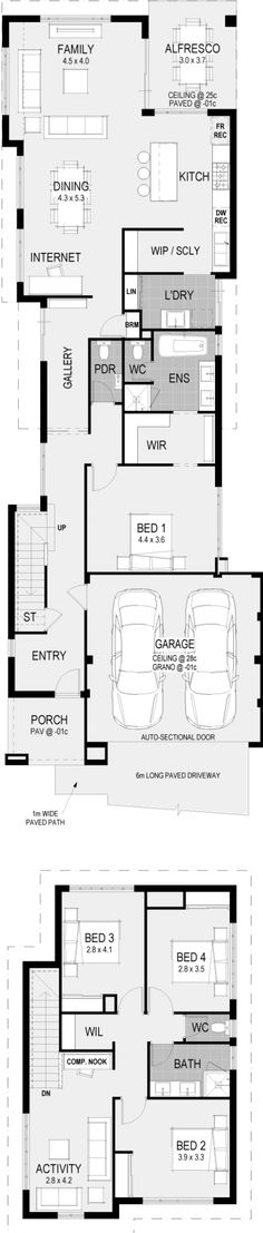 The Vercelli Floorplan Two Storey House Plans, Container House Plans, Container Houses, Latest House Designs, I Love House, Storey Homes, Building A New Home, Contemporary Architecture, Home Builders