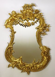 A Very Fine and Large French Century Louis XV Style Belle Epoque… Old Mirrors, Vintage Mirrors, Small Mirrors, Vanity Mirrors, Trumeau Mirror, Mirror Mirror, Mirrored Picture Frames, Shabby Chic Mirror, Beautiful Mirrors