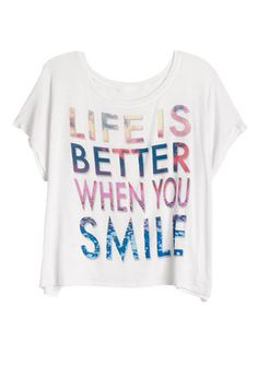 a46d69e19ff5 dELiAs Life Is Better When You Smile Tee tops graphic tees view all graphic  tees