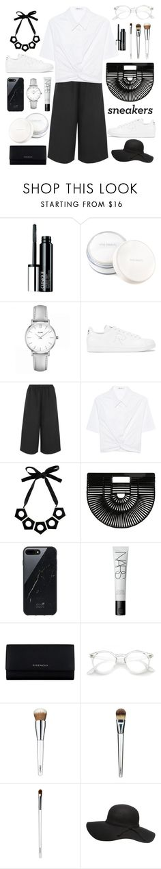 """monochrome addict"" by indahnovianaa ❤ liked on Polyvore featuring Clinique, rms beauty, CLUSE, adidas, Comme des Garçons, T By Alexander Wang, Marni, Cult Gaia, Native Union and NARS Cosmetics"
