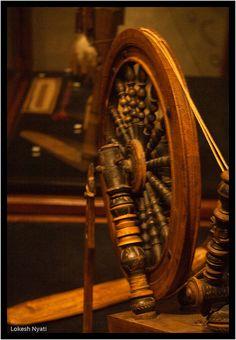 Spinning wheel - museum, Helsinki, Finland