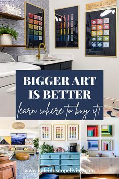 One of the biggest decor mistakes is choosing wall decor that is too small. Learn the secrets to picking big wall art and why the correct size will make a huge difference in the look of your room! Diy Home Decor On A Budget, Affordable Home Decor, Affordable Furniture, Home Decor Items, Diy Furniture Projects, Diy Home Decor Projects, Diy Room Decor, Wall Decor, Living Room And Dining Room Decor