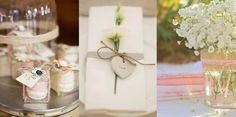 décoration de mariage en toile de jute