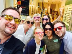 da2bf09b1fd The Bluewater team along with customers Jennifer and Linda trying on their  favourite glasses! David Clulow