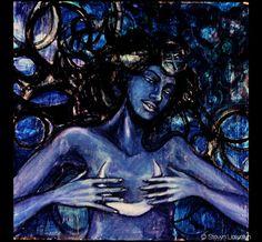 Stevyn Llewellyn  - Nuit The Star Goddess - Oil on panel - Now available as a framed archival print here: http://society6.com/product/nuit-the-star-goddess_framed-print#12=60&13=55