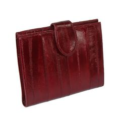 MJ Masters Womens Eel Skin Credit Card Wallet Burgundy *** Check out the image by visiting the link.