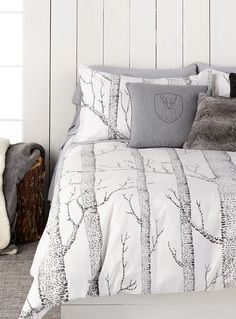A Woodland Wonderland | Simons Maison Nordic Forest Duvet Cover Set. #home #bedding #decor