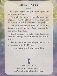 Angel Card: 10 July 2013: Creativity