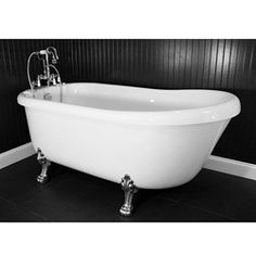@Overstock - Chrome Edwardian tub faucet with handheld shower  High gloss white interior and exterior  Integrated drain with overflowhttp://www.overstock.com/Home-Garden/Spa-Collection-73-inch-Air-Massage-Slipper-Clawfoot-Tub-Package/6144124/product.html?CID=214117 $2,599.99