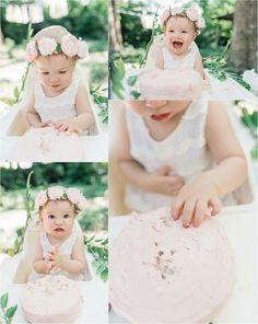 Boho First Birthday Cake Smash   Everence Photography