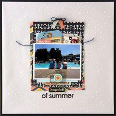 snapshot of summer *Cocoa Daisy August kit - Scrapbook.com