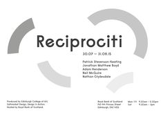 Reciprociti: A collaborative programme of exhibitions showcasing established and emerging artists, designers and jewellers responding to themes of value, worth and forms of currency (From 30 July 2015 to 31 August 2015).
