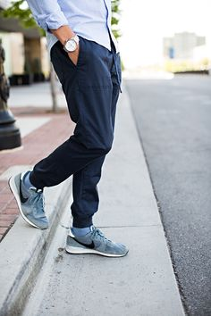 3 Ways to Style Jogger Pants | Hello His