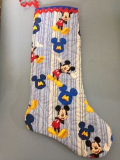 Mickey Mouse Christmas Stocking by TLCquiltsANDthings on Etsy