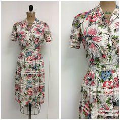 1940s Floral Dress 40s Georgiana on Etsy, $150.00