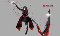 19 year old Ruby Rose in CHROMA-verse (Rin1990) : RWBY