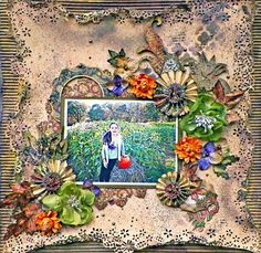 Autumn Layout **Scraps of Darkness** - Graphic 45 - Rare Oddities Collection http://lisas-livingincolor.blogspot.com/2015/10/fall-layout-featuring-danse-macabre-by.html