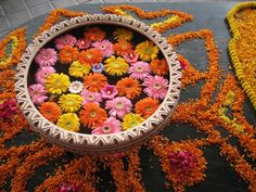 Diwali Flowers Decorations Using During Celebrations