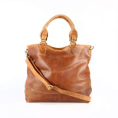 Leather Purse Tan Distressed Leather Tote by TheLeatherStore