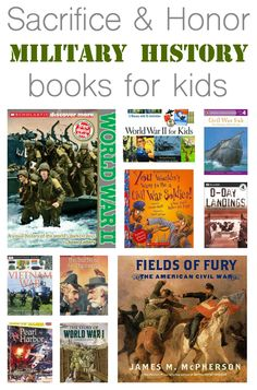 10 books about military history for kids. #MemorialDay